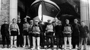 RNLI crewmembers from yesteryear