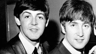 Sir Paul McCartney and John Lennon pictured in June 1963.
