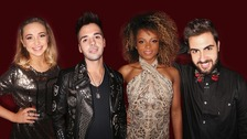 Lauren Platt, Ben Haenow, Fleur East and Andrea Faustini - The X Factor 2014's final four.