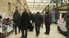 Shoppers in Carlisle Railway Station
