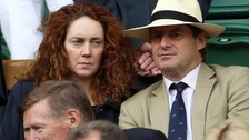 News International chief executive Rebekah Brooks and her racehorse trainer husband Charlie,