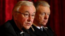 The Archbishop of Westminster, Cardinal Vincent Nichols and Police Commissioner Sir Bernard Hogan-Howe.