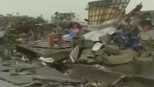 Debris in the Filipino city of Tacloban.