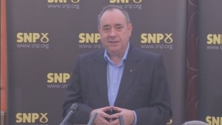 Former Scotland First Minister Alex Salmond speaking in Aberdeenshire.