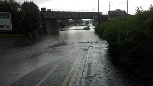 A car is stranded in West Moor