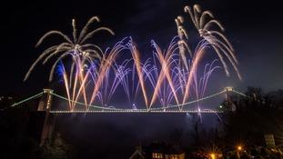 Fireworks in Bristol.