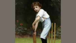 Boy with cricket bat