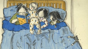 A sketch of bed-time reading