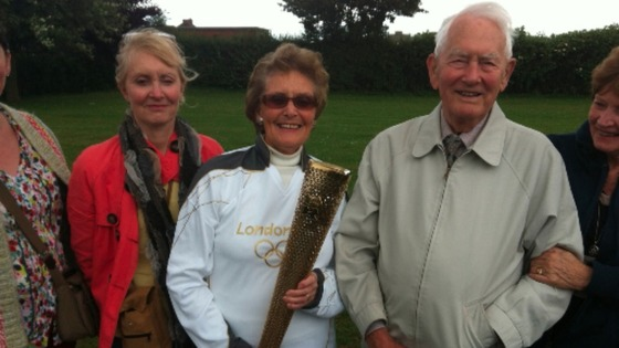Kalet Smedley olympic torch