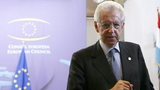 Italian PM Mario Monti