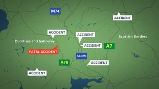 There have been a number of accidents in the south of Scotland today.