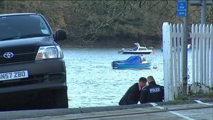 Police activity at Golant near Fowey after the discovery of a body
