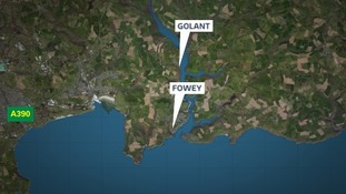 The body was found on the beach at Golant in Cornwall