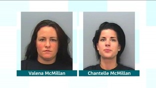 Valena and Chantelle McMillan attacked Jamie Skinner in Looe