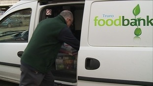 The foodbank in Truro supplies food to more than two thousand people