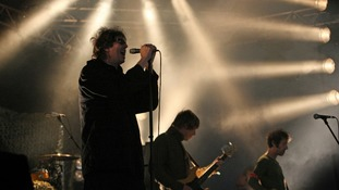 Echo And The Bunnymen perform on the Word Arena Stage at The Lattitude Festival in Suffolk.