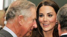 The Duchess of Cambridge and the Prince of Wales.