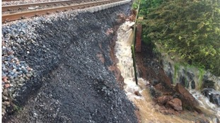 Landslip at Spittal, south of Berwick-upon-Tweed