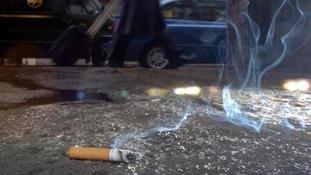 cigarette on floor