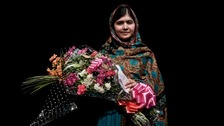 Malala was shot in the head by Taliban gunmen in her native Pakistan after campaigning for the right of girls to be educated.