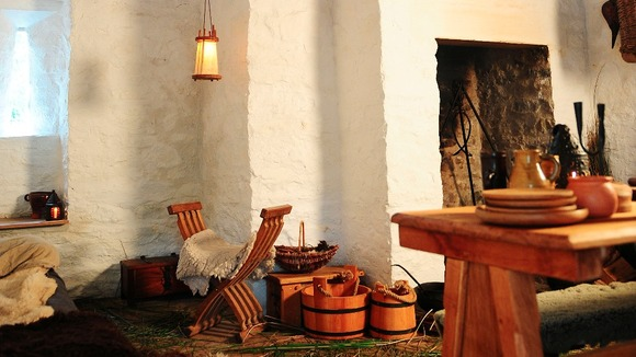 Interior of Tudor trader's house