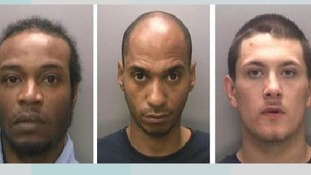 Anthony Campbell, Isa Rahman and John Woodfield were jailed for a total of more than 45 years