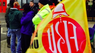 Firefighters have been on the picket lines across the North East.