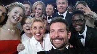 The Ellen DeGeneres selfie was the most retweeted tweet.