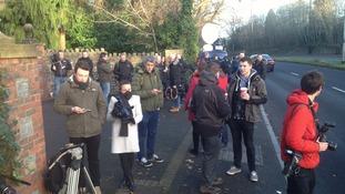Press have gathered outside Shrien Dewani's house in Westbury-on-Trym