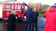 Chief Fire Officer Tom Capeling speaking to the press