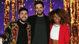 Ben Haenow, pictured with Andrea Faustini and Fleur East, says Simon Cowell does not have a favourite.