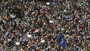 Crowds in Tahrir square