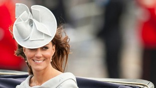 Duchess of Cambridge returns to Buckingham Palace during the annual Trooping the Colour parade