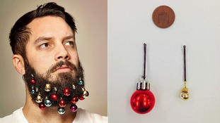 Making fuzz festive: Beard baubles contain 14 multi-coloured baubles