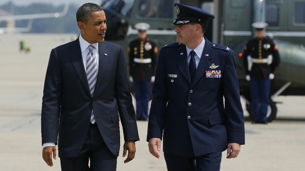 US President Barack Obama leaves Washington to visit the fire disaster area in Colorado Springs
