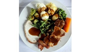 The average Christmas dinner, like the one above, contains up to 3,500 calories.