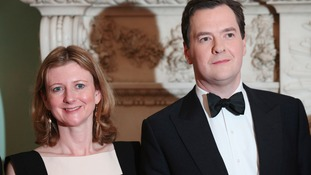 Frances Osborne with her husband.