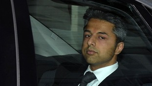 Shrien Dewani leaves court after being cleared of murdering his wife Anni in Cape Town in 2010