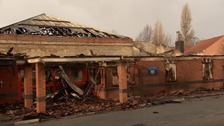 The remnants of Minehead Resource Centre.