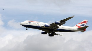 A British Airways Boeing 747 plane