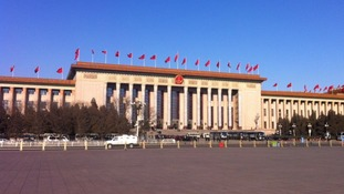 China's Great Hall of the People in Tiananmen Square - the venue for today's conference