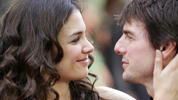 Tom Cruise with Katie Holmes.