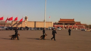 Tight security in Tiananmen Square