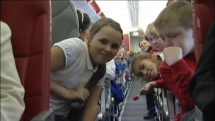 Children take to the skies on Jubilee flight
