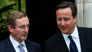 David Cameron with Irish Taoiseach Enda Kenny at Stormont House.