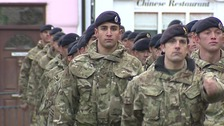 A hundred soldiers marched through Saffron Walden.