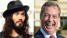 Russell Brand blasts Nigel Farage as 'pound shop Enoch Powell'