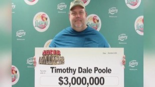 Convicted paedophile Timothy Dale Poole won a $3 million lottery jackpot.