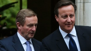 David Cameron with Taoiseach Enda Kenny.