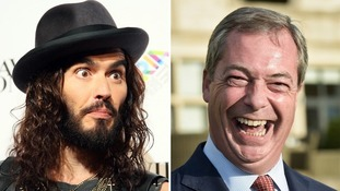 Nigel Farage: Russell Brand is 'lightweight and has chest hair make up artist'.